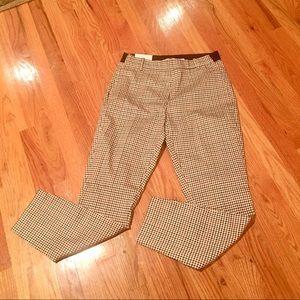 New H&M Women's Plaid Stretch Pull On Pants SZ 8